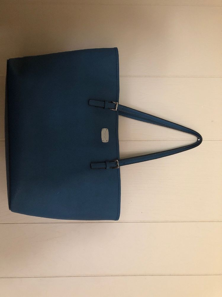 380263b4bc33 Michael Kors Jet Set Travel Saffiano Leather Top Zip Tote Teal  fashion   clothing  shoes  accessories  womensbagshandbags ...
