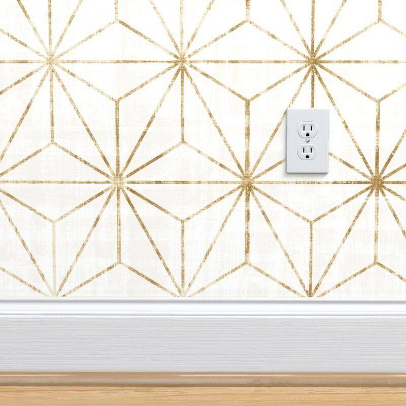 Lofton Geometric Removable Peel And Stick Wallpaper Panel 1000 Geometric Removable Wallpaper Peel And Stick Wallpaper Wallpaper Panels