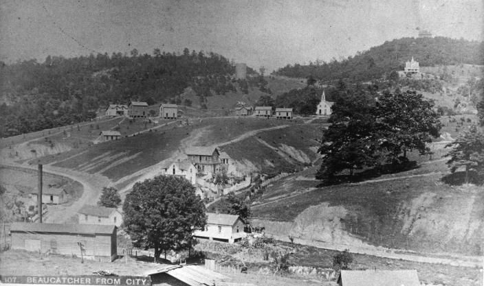 Mtn View Ford >> 1895 - Looking at Beaucatcher mountain from what is now downtown Asheville. | WNC Historical ...