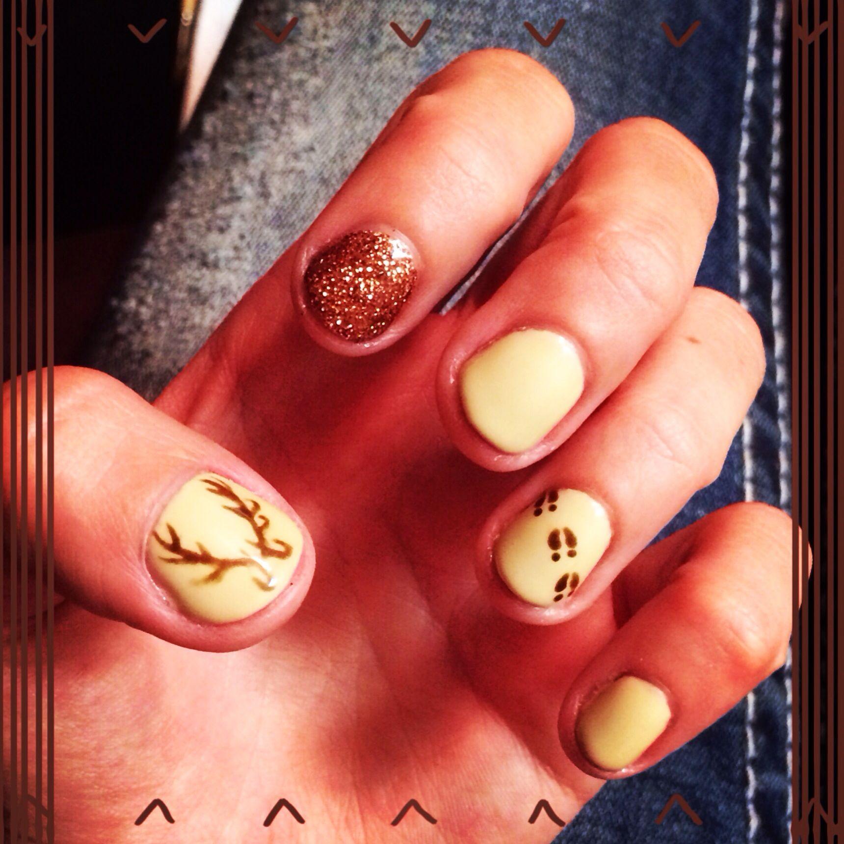Deer Antler Nails #country | Hair/Nails/Make up | Pinterest | Deer ...