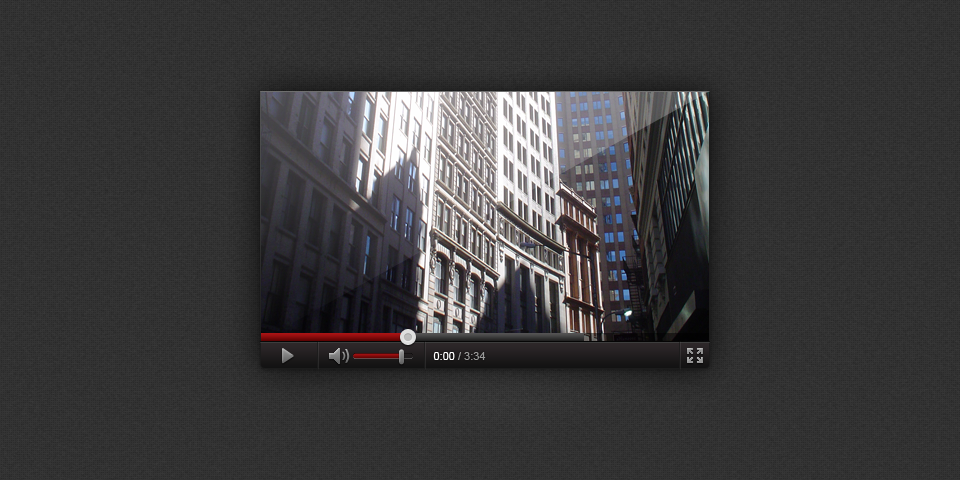 Youtube Inspired Video Player Interface Psd Graphic Design