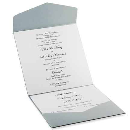 WeddingInvitations150PouchPocketFoldSilverSteeleInsidejpg