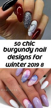 #Burgund #Chic #designs #Nail #Winter #Burgundy