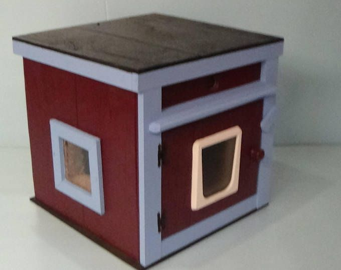 Etsy Your Place To Buy And Sell All Things Handmade Heated Cat House Outdoor Cat House Cat Pod