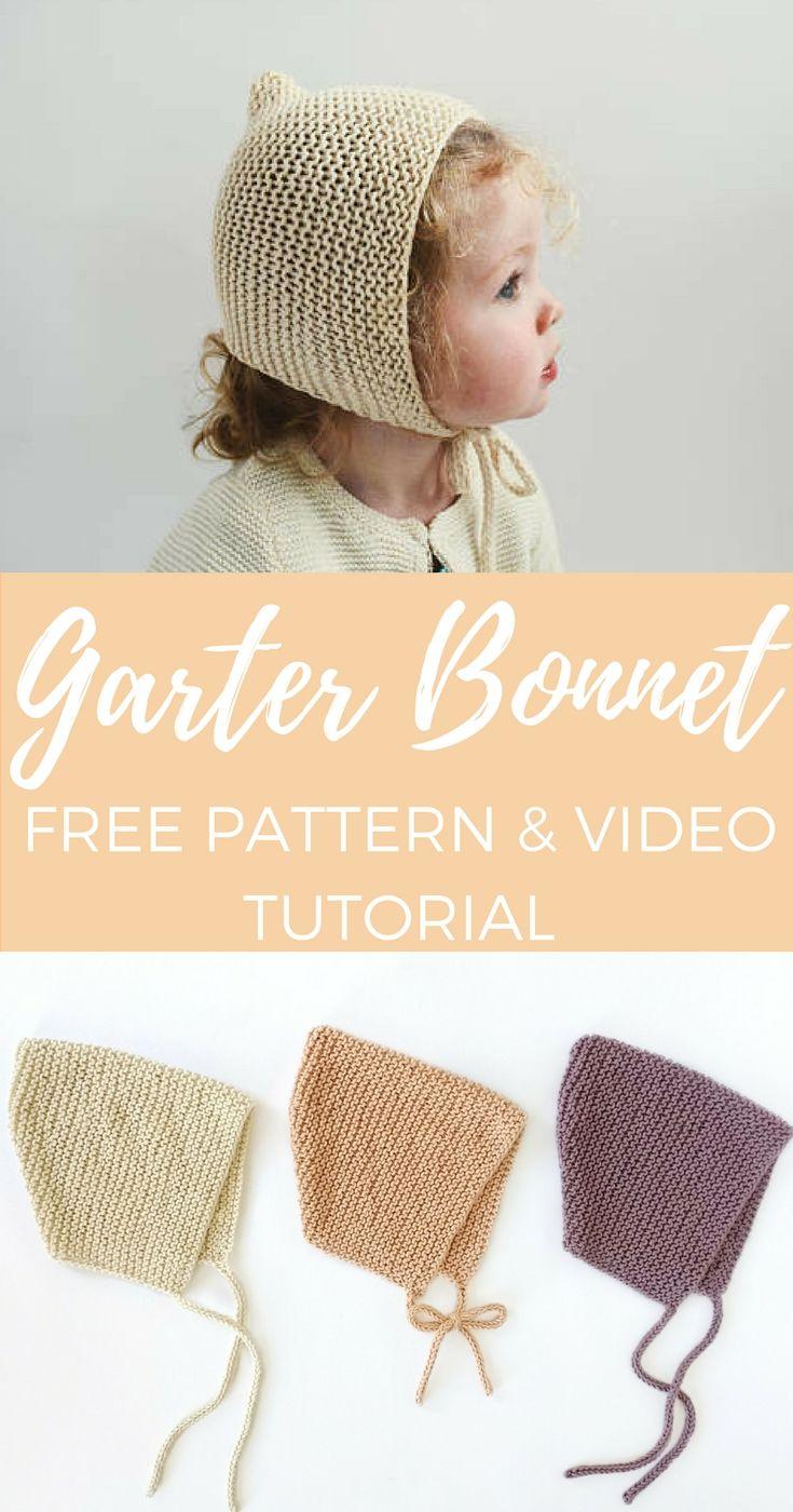 Spring Garter Bonnet Free Pattern Kids Pinterest