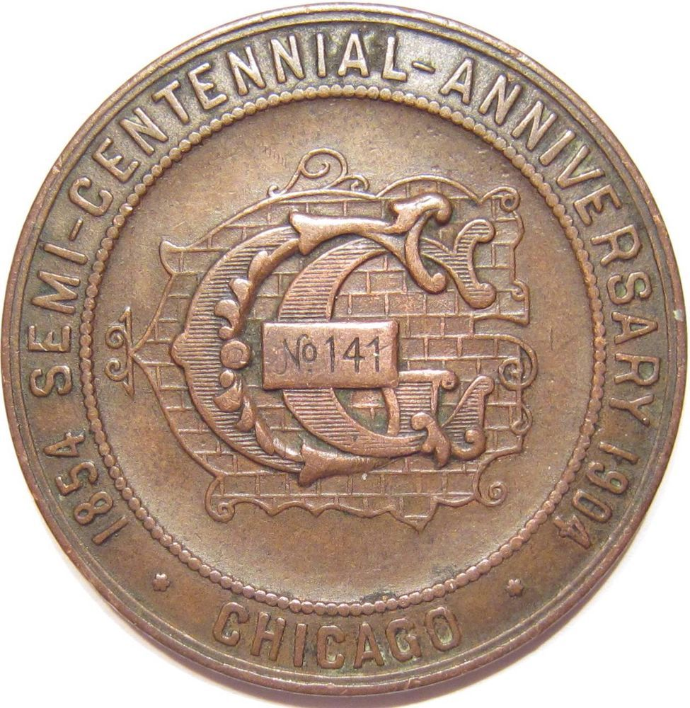 1854-1904 MASONIC SEMI-CENTENNIAL CHICAGO IL GARDEN CITY LODGE RARE ...