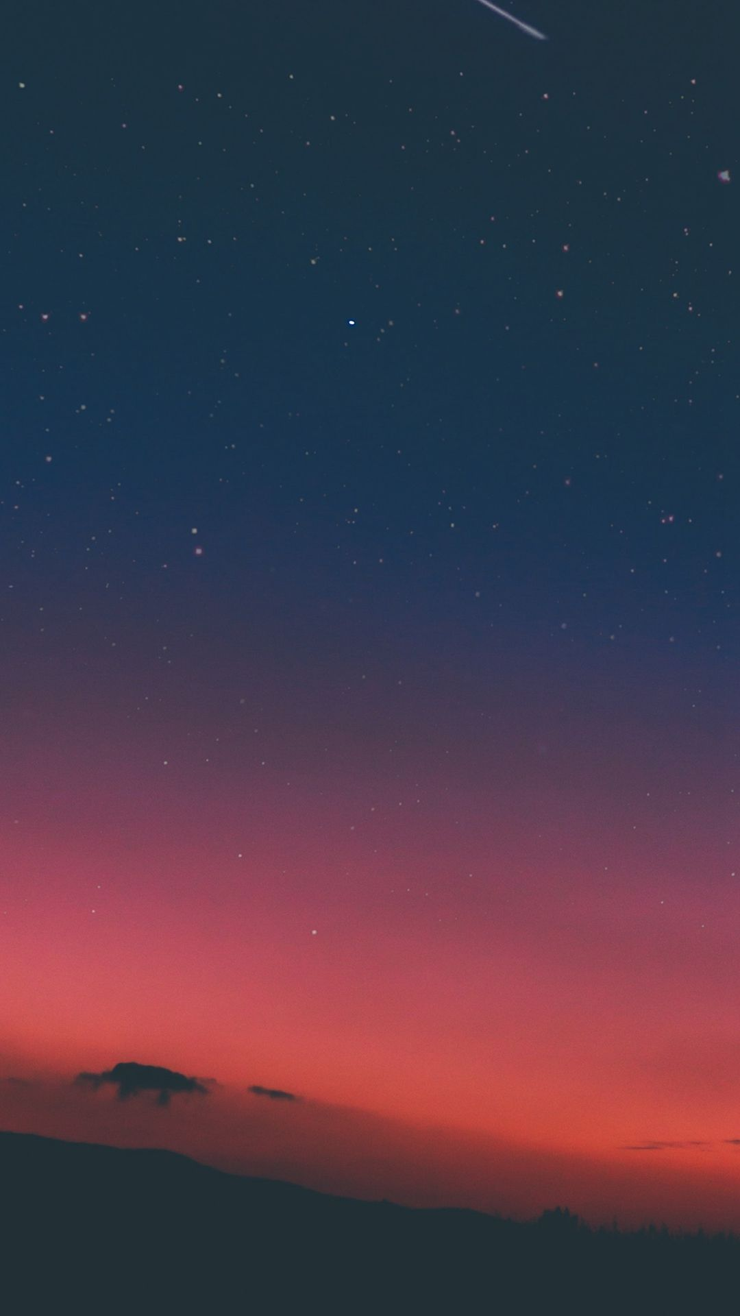 Lovely Night Sky Sunset Pink Nature #iPhone #8 #wallpaper