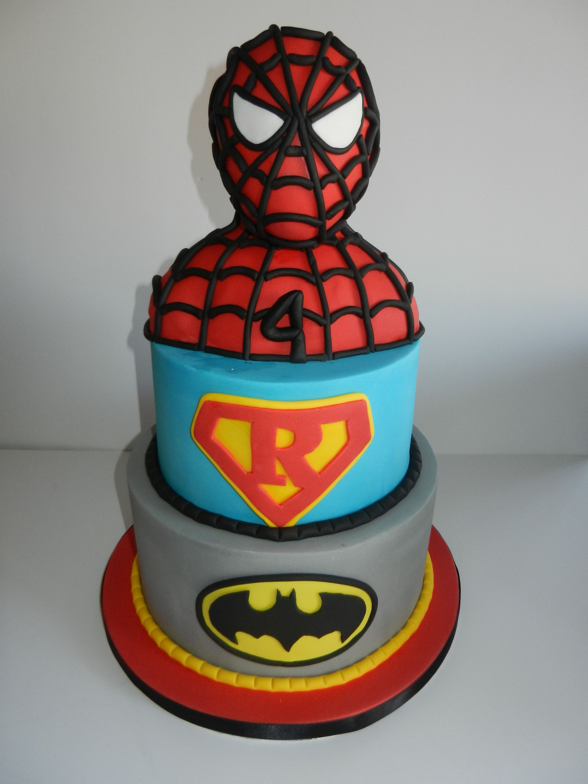 This Super Hero Cake Was For A Super 4 Year Old Birthday