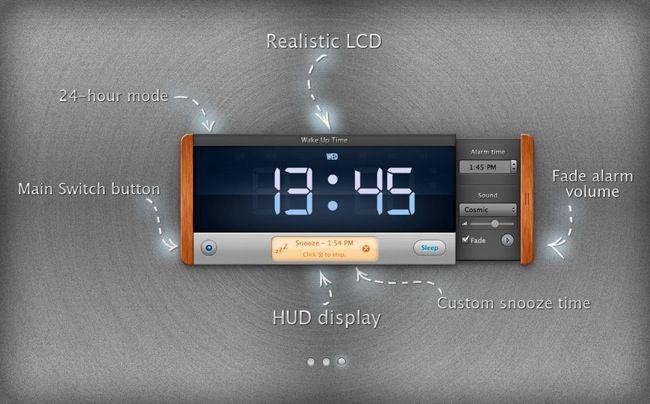 Wake Up Time Schicker Wecker für Mac OS X Alarm clock