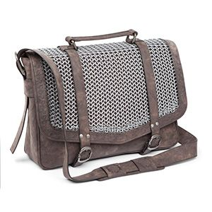 The Knight's Chain Mail Satchel is your basic messenger bag