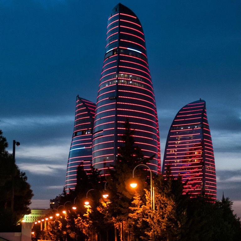 Flame Towers Baku Azerbaijan Places To Visit Wonders Of The World Azerbaijan