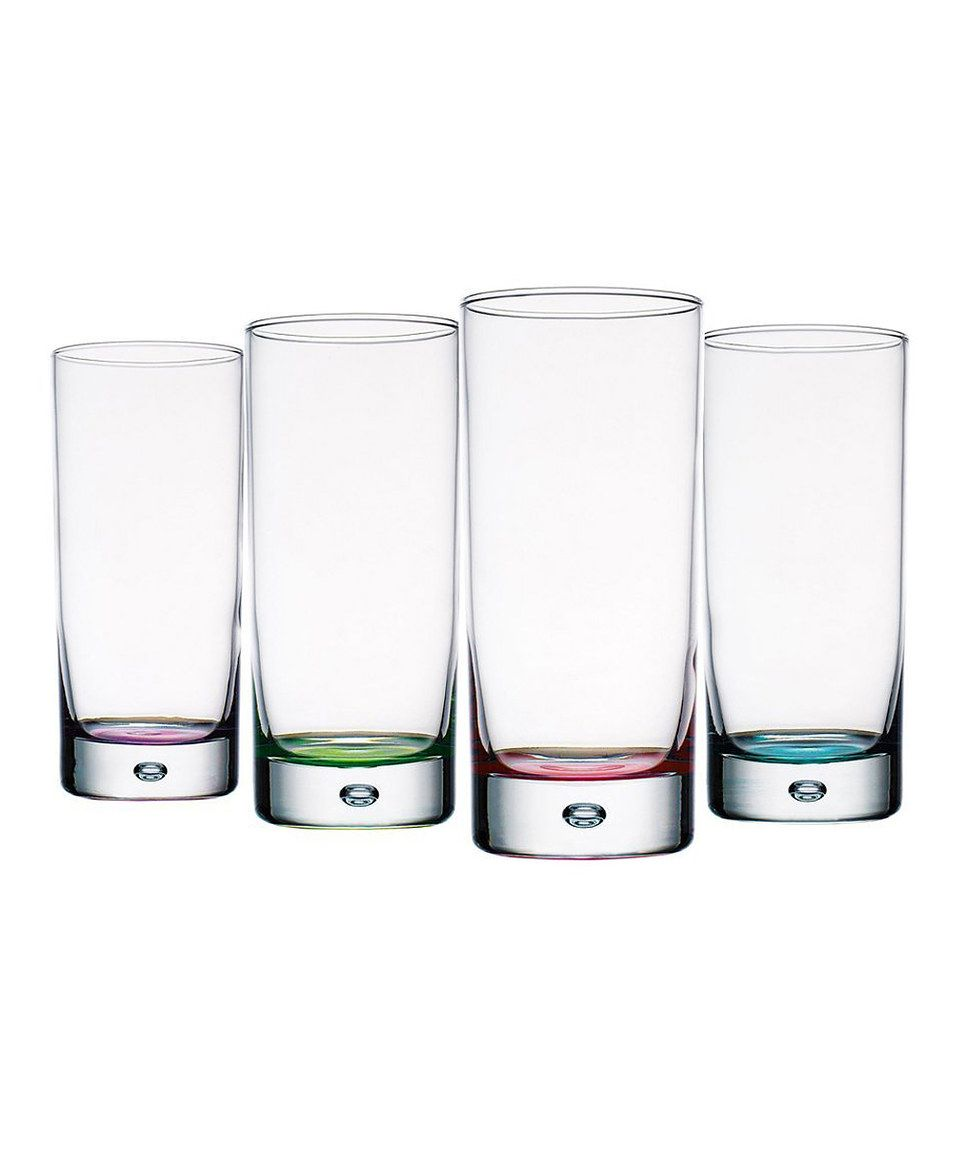 Another great find on #zulily! Assorted Color Square Bottom Glass ...