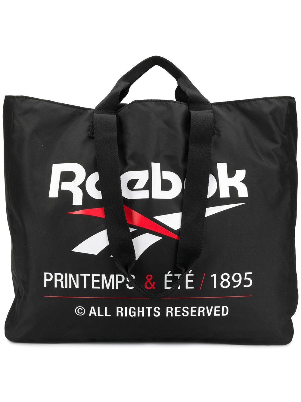 REEBOK REEBOK LARGE LOGO SHOPPING TOTE BLACK. #reebok