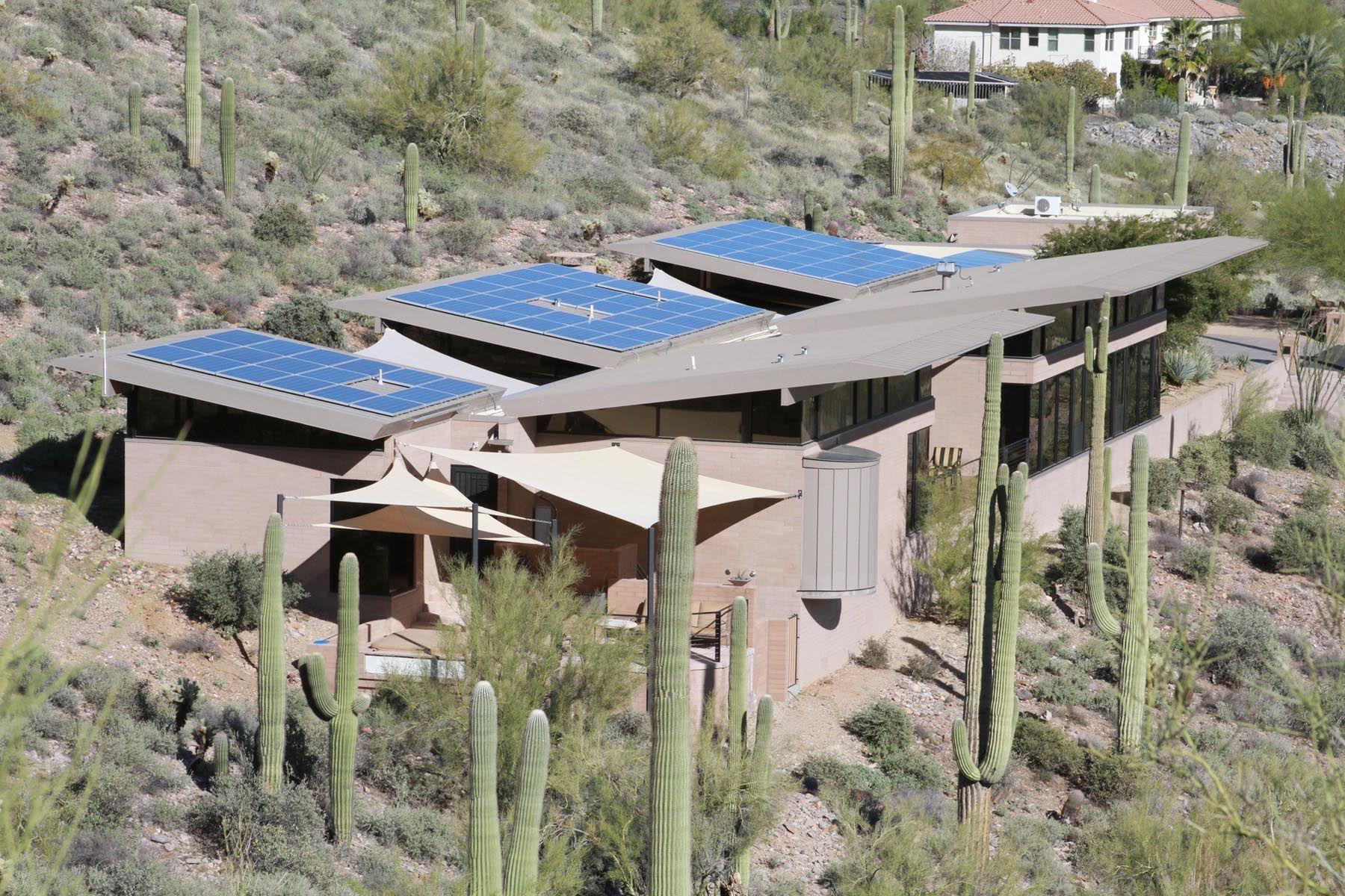 24 7kw Solar Installation In Phoenix Az By Sky High Energy Saving The Homeowners Near 85 On Total Electric Residential Solar Panels Solar Installation Solar