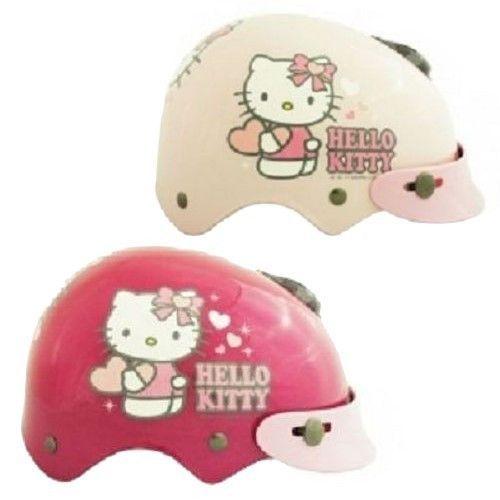 Hello Kitty Motor Harley Style Helmet For 1~3 Old Kid Toddler Heart Pink, Hotpink Sanrio