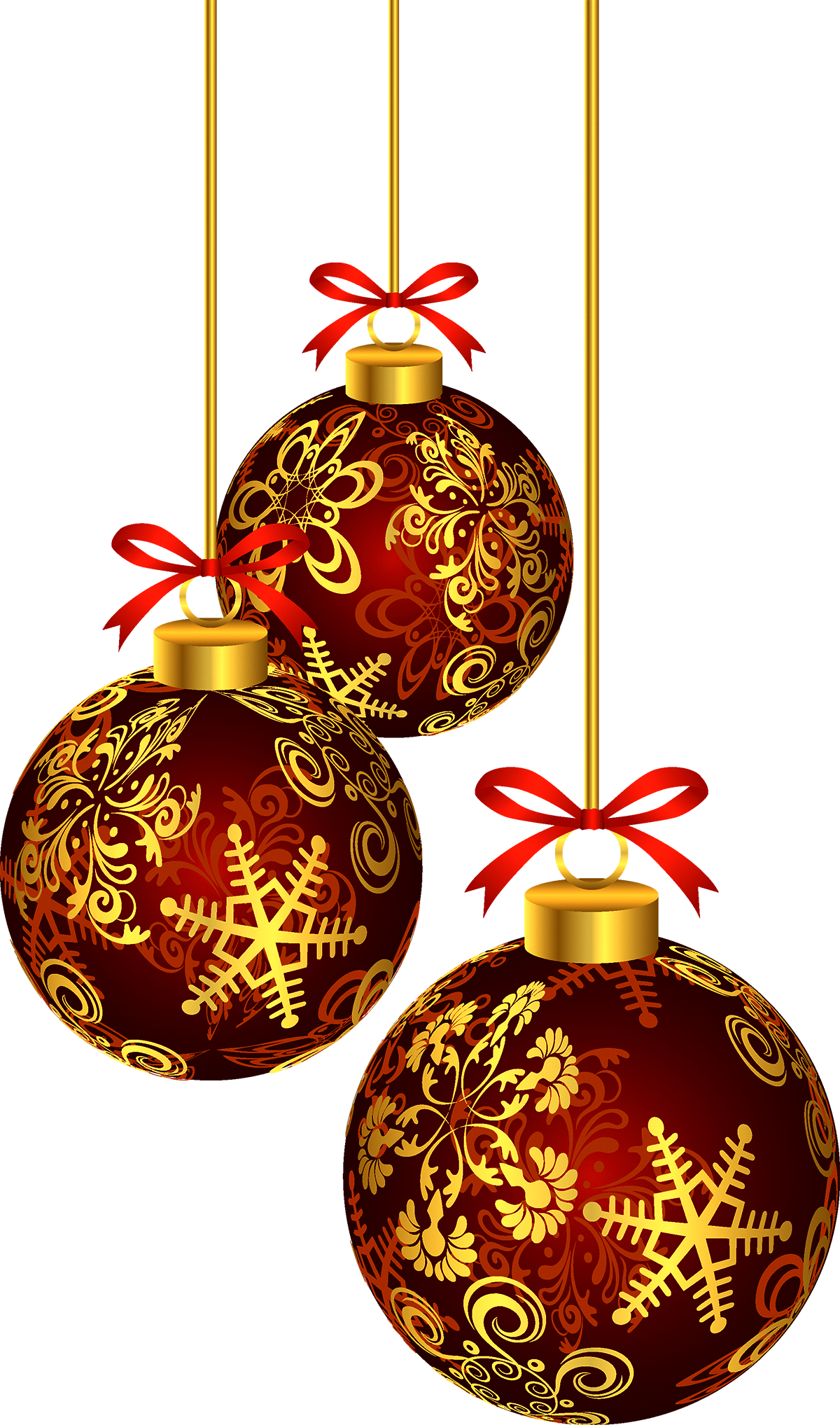 Christmas New Year golden ball Christmas PNG image