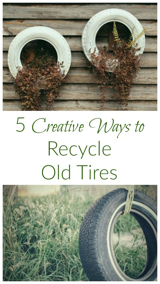 No need to toss those old bike and car tires! Try these creative DIY ideas!