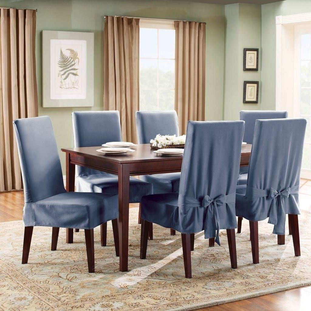 40 Gorgeous Cover Design Ideas For Dining Chairs With Images Dining Room Chair Covers Dining Room Chair Slipcovers Dining Room Chairs