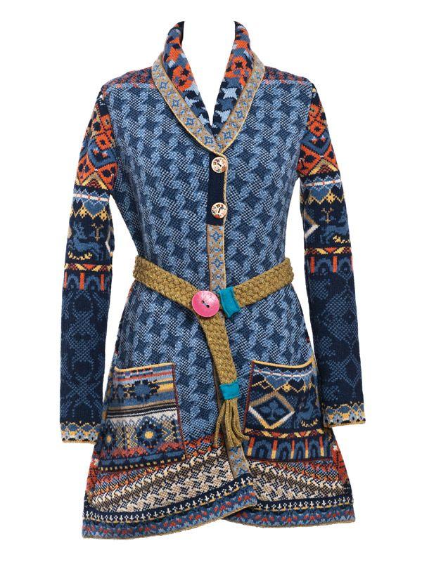Ivko mantel blau