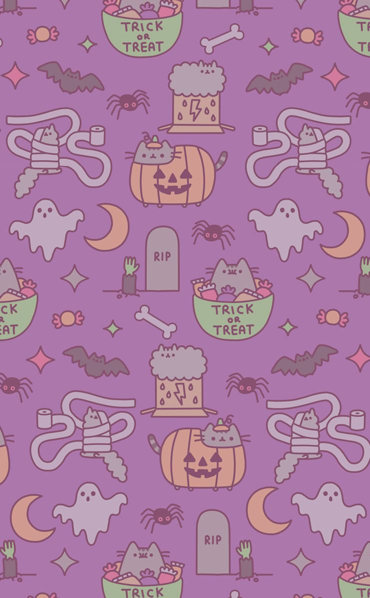 Pusheen Halloween On Weheartit Halloween Wallpaper Iphone Halloween Wallpaper Halloween Wallpaper Iphone Backgrounds