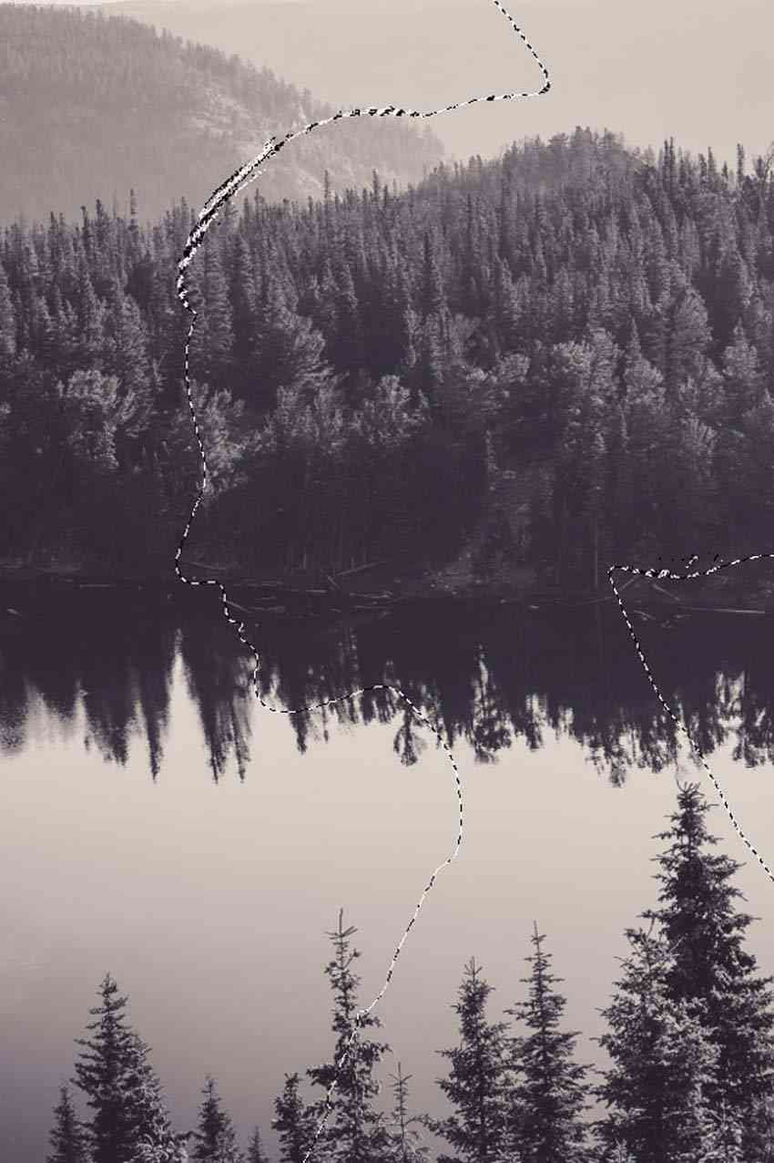 Collection Of Double Exposure Effect Photoshop Tutorial Dark Wallpaper Nature Iphone Wallpaper Black And White Wallpaper Iphone