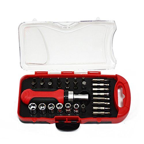 Pocket Screwdriver Set Ratchet Wrench For Driver Tools 19pcs