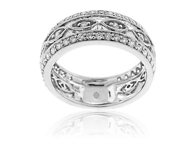 90 Carat 14k White Gold Diamond Cocktail Ring Available for 3623