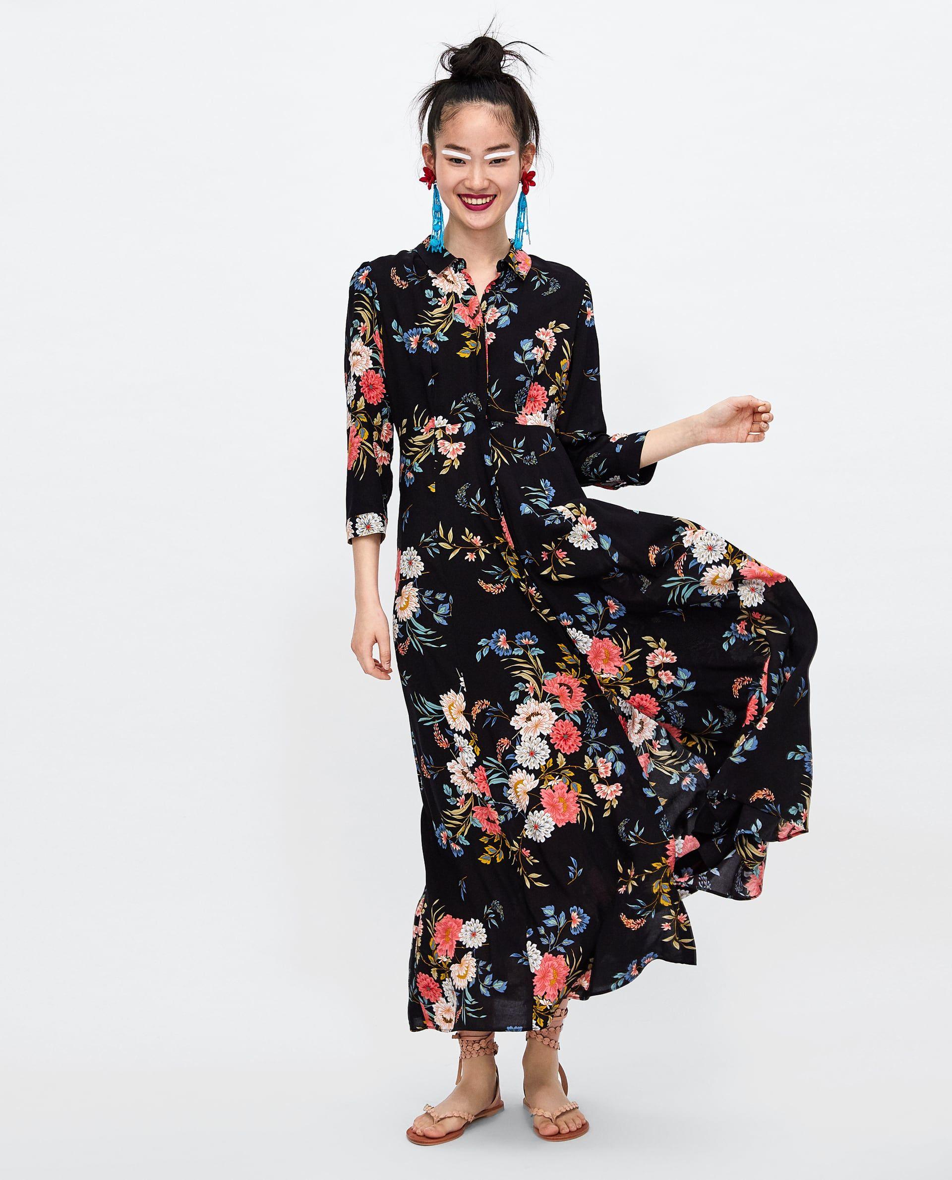 aa4ae5694 ZARA - WOMAN - LONG FLORAL PRINT DRESS