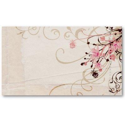 Vintage flowers profile card card templates business cards and vintage flowers profile card reheart Choice Image
