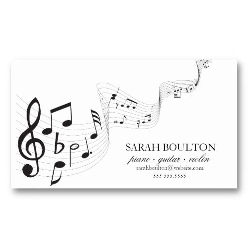 musical notes musician profile cards business card songbird
