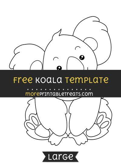 free koala template large shapes and templates printables