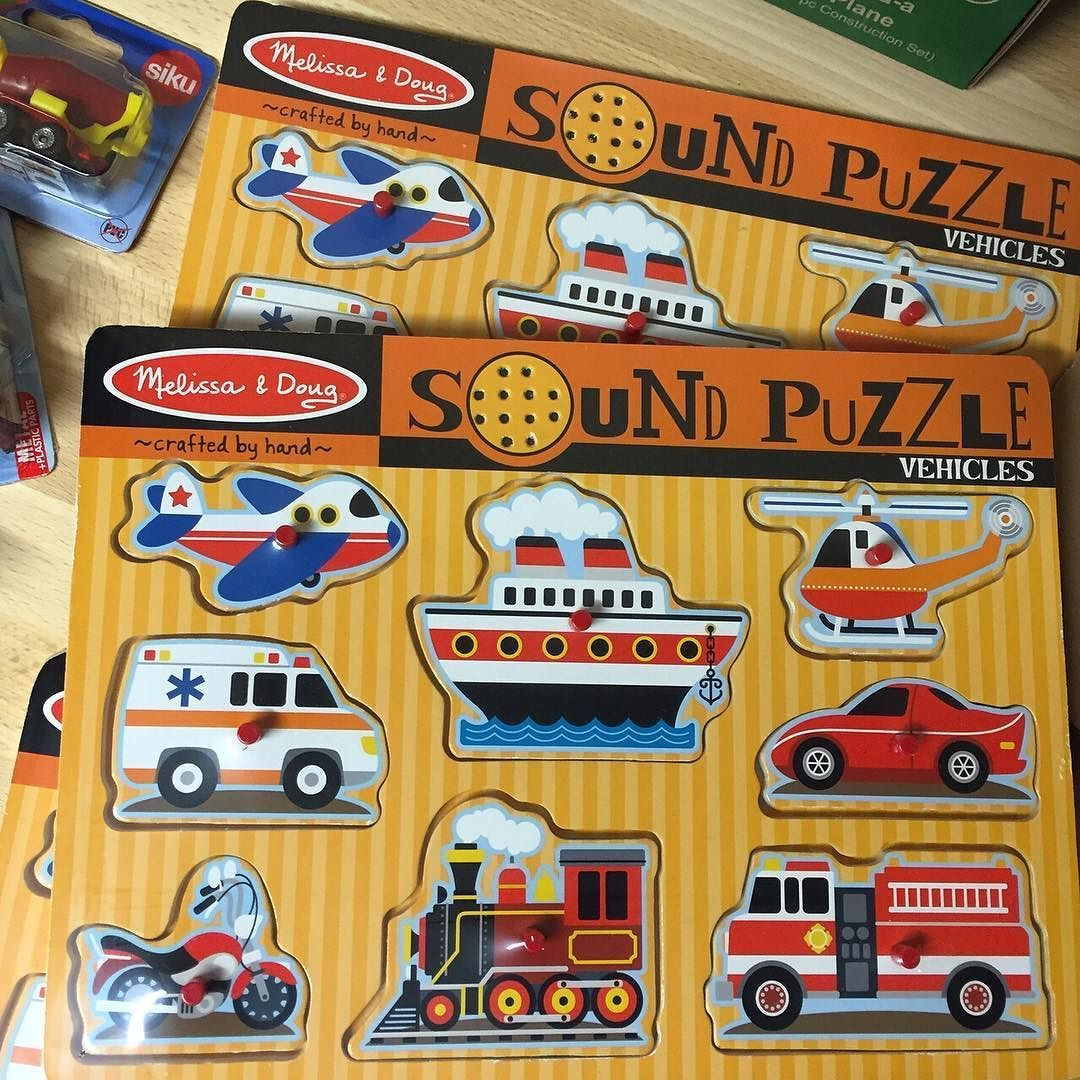 A peg puzzle with a difference.  Put the piece in its place to make a sound that matches the picture.  A great way to encourage the kids to do puzzles and learn fine motor skills.  Gorgeous gift for 2  http://ift.tt/1t2cZNf