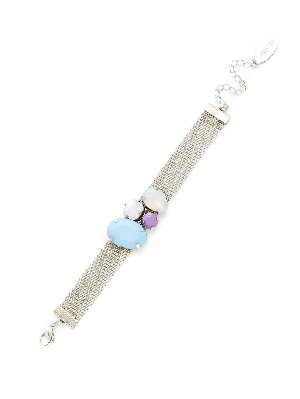 Silver & Multi-Color Stone Bracelet by Adia Kibur at Gilt