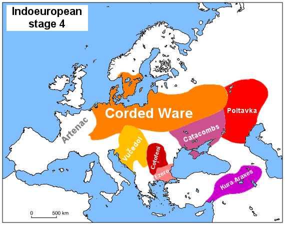 Corded Ware A Major Expansion Of The Western Ie Group To The West East And North Vucedol Probably Associated With The Previo Historical Maps Kurgan History