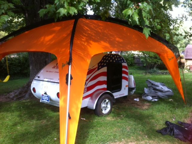 Tent and Trailer camping combined - the best of both ...