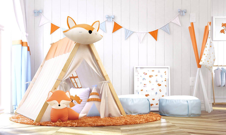 A Cabana Quarto De Beb Raposinha Laranja Ideal Para O Quarto  ~ Quarto Infantil Verde Com Quarto Preto E Laranja