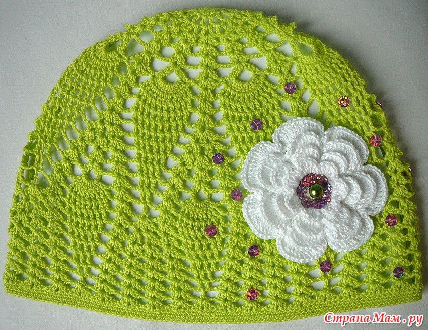 летние шапочки для девочек шляпки вязание крючком летние шапки