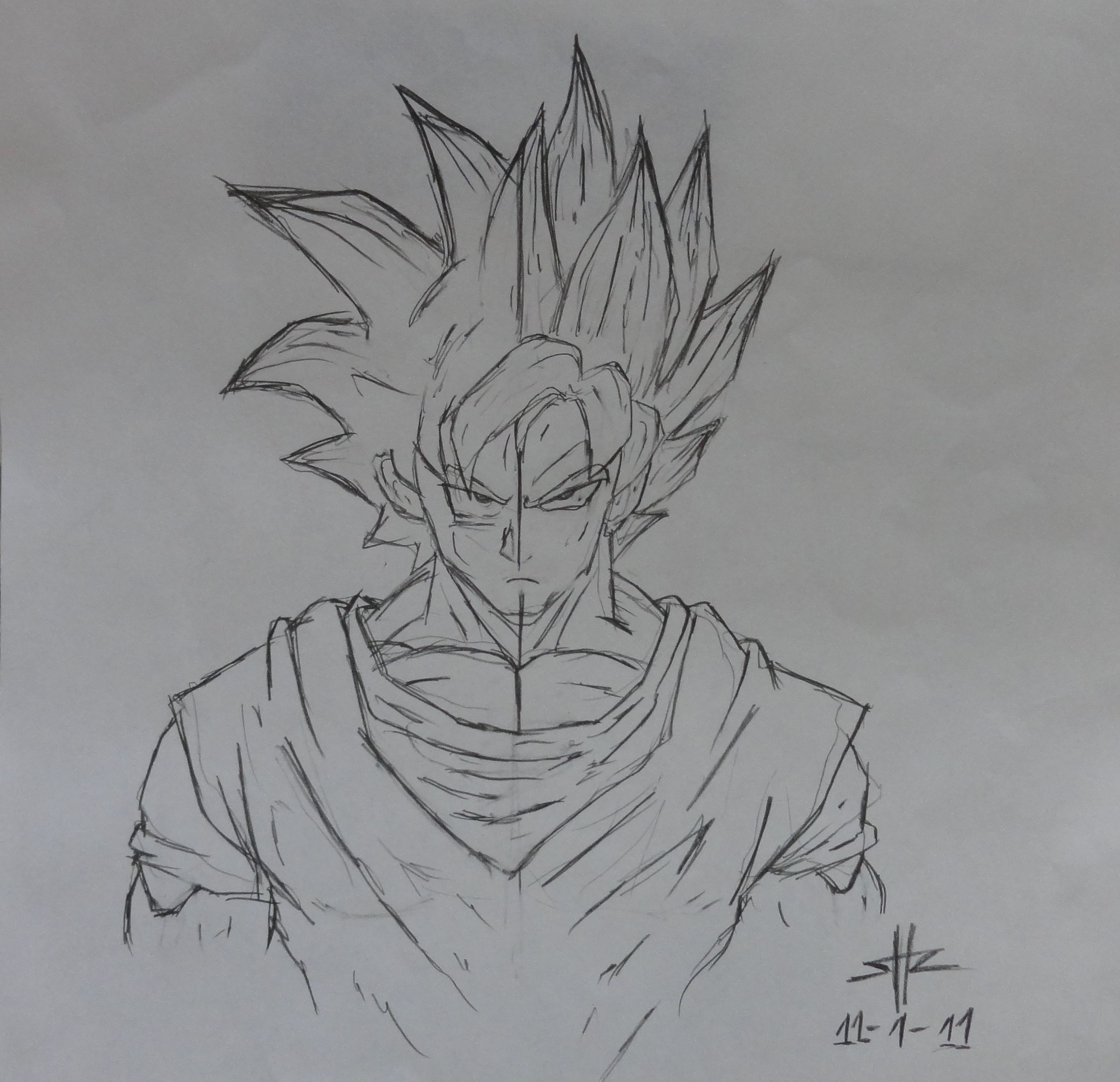 ssj3 goku drawing - Google Search | Projects to Try | Pinterest ...