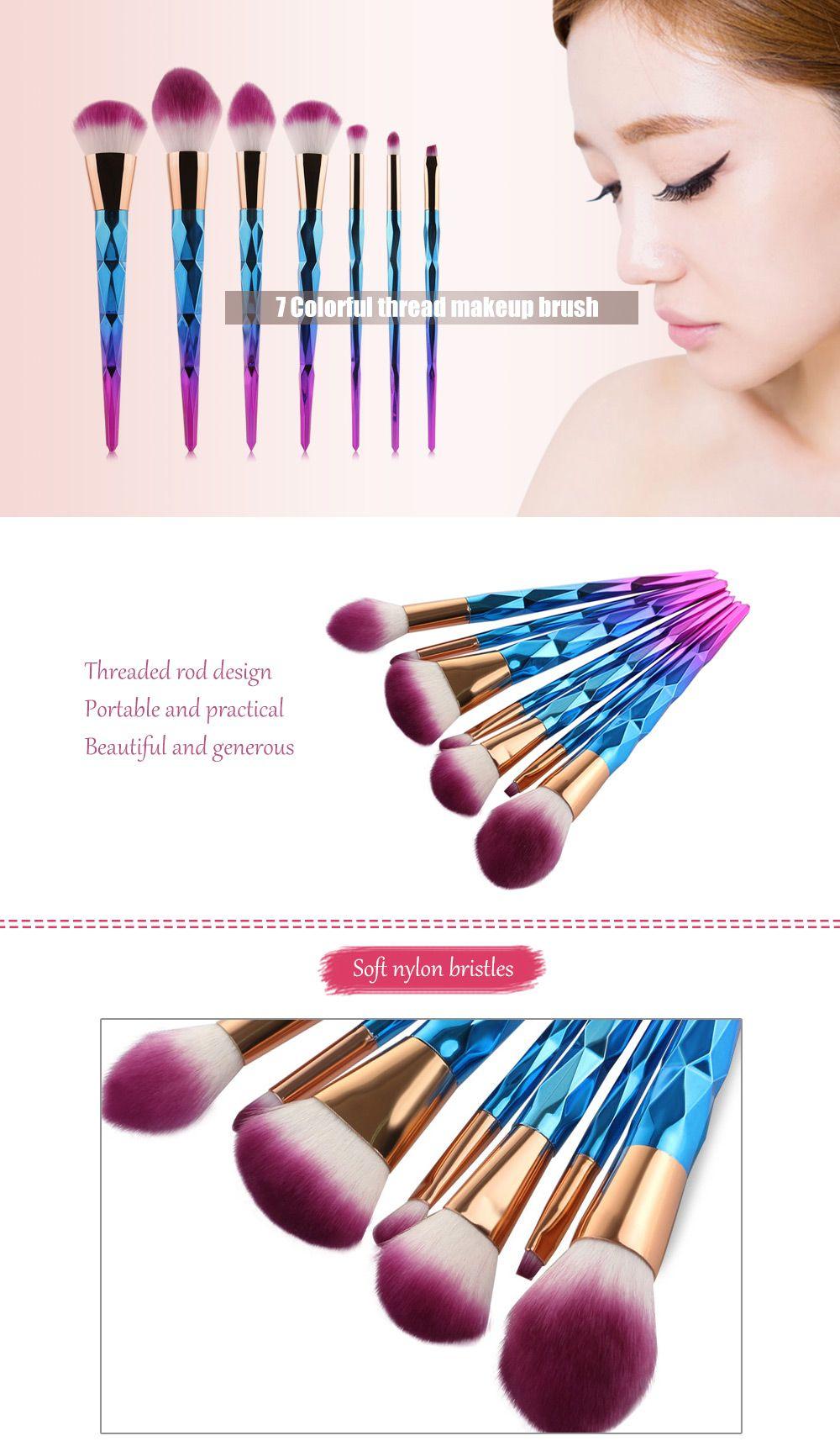MAANGE 7pcs Makeup Cosmetic Brushes Set Sale, Price
