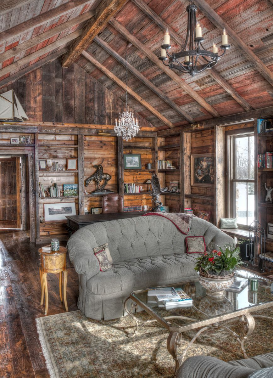 10+ Impressive Log Cabin Interior Designs For Your Home ...