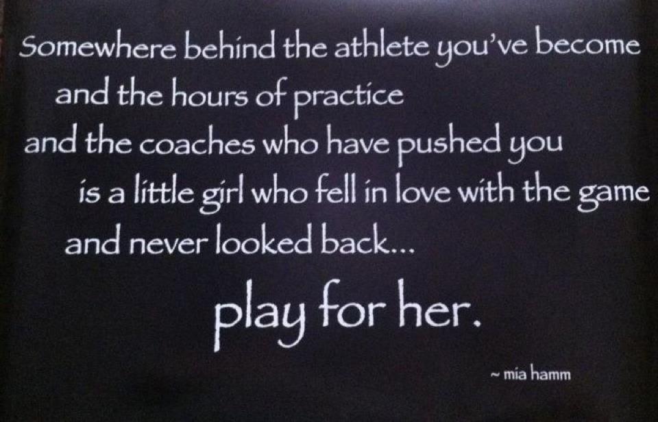 Reposting Mia Hamm Quote Mia Hamm Mia Hamm Quotes Sport Quotes Motivational