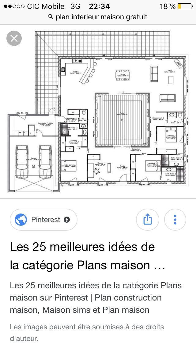 Plan de maison Amandine G 90 Design  Vignette 1 Maisons Pinterest