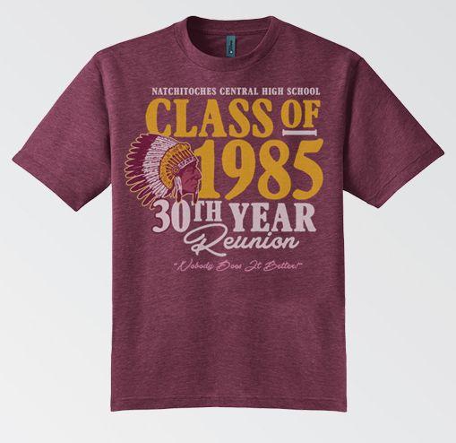 d4dedb99 Class of 1985 30th Reunion T-Shirt | Reunions | High school class ...