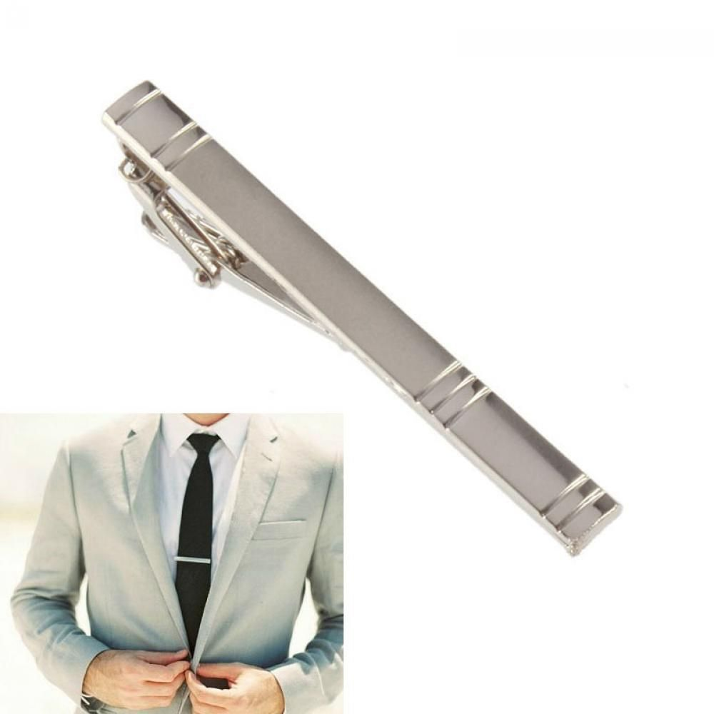 Mens Metal Gold Plated Tone Simple Necktie Tie Pin Bar Clasp Clip FO