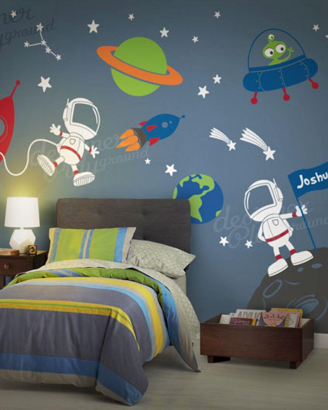Space Journey in 2019 | Boys Bedroom Decor | Kids bedroom, Wall ...