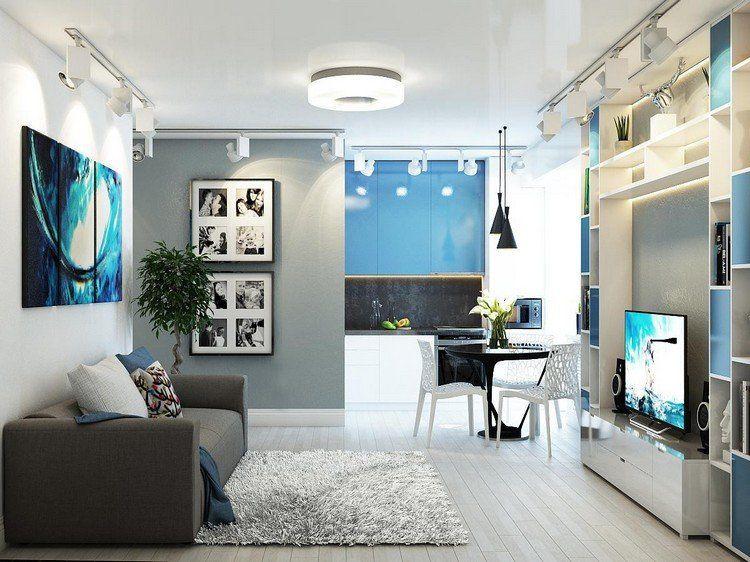 Déco salon gris blanc bois en 35 idées pour revitaliser votre - Salle A Manger Parquet