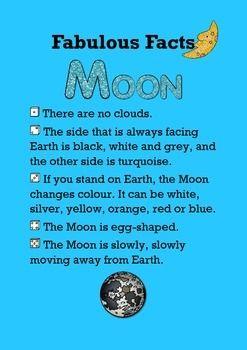 FABULOUS FACTS / MOON - TeachersPayTeachers.com   Space ...