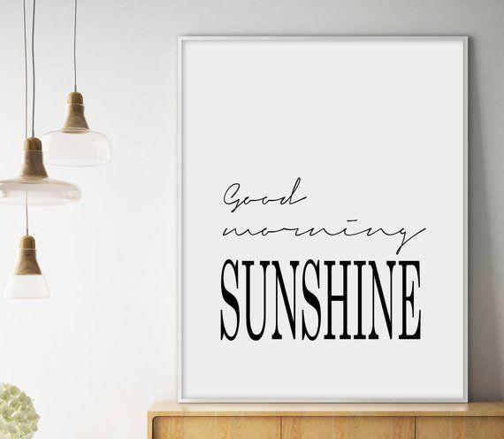 morning sunshine calligraphy printable poster scandinave affiche scandinavian