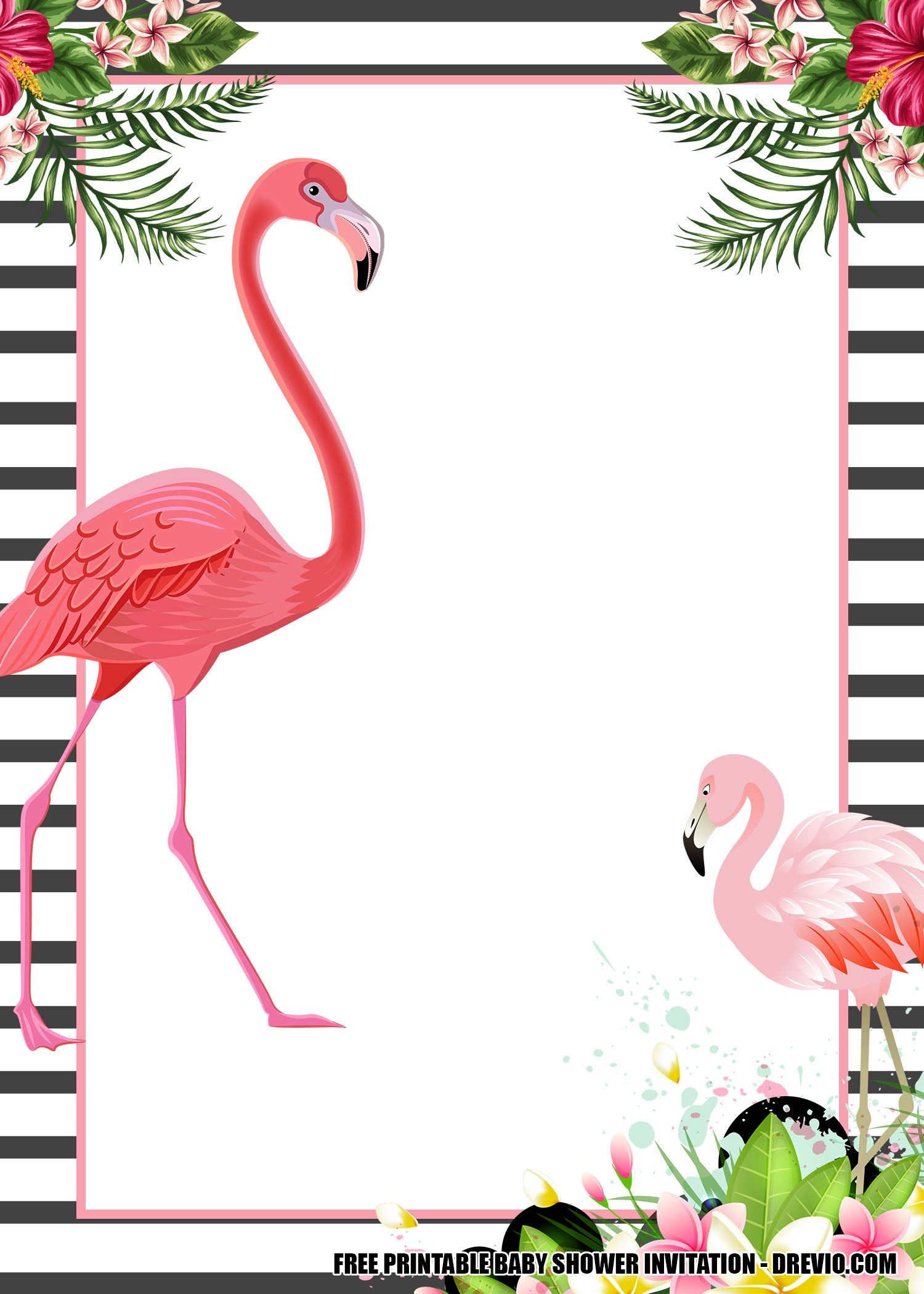 16 Free Flamingo Invitations Templates Downloadable For Any Occasions Flamingo Birthday Invitations Flamingo Invitation Free Printable Birthday Invitations