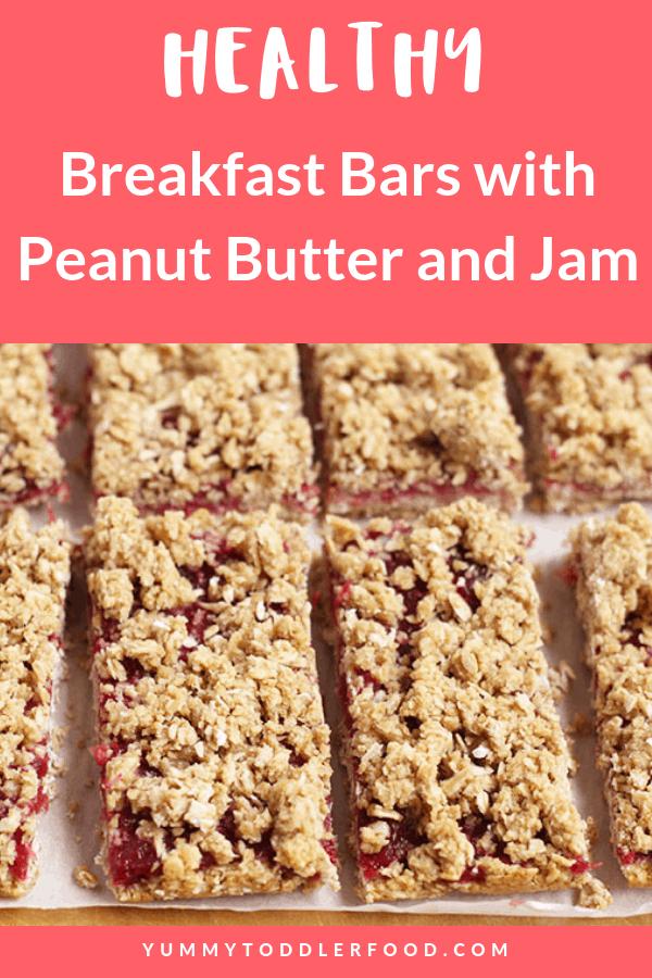 Healthy Breakfast Bars with Jam